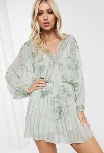 Sukienka Asos z dekoltem w kształcie litery v rozkloszowana