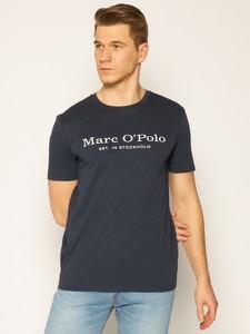 Granatowy t-shirt Marc O'Polo z krótkim rękawem