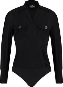 Czarna bluzka Elisabetta Franchi z długim rękawem w stylu casual