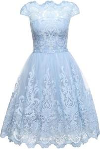 Błękitna sukienka chi chi london