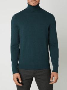 Turkusowy sweter Montego z golfem