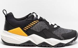 Czarne buty sportowe Caterpillar w sportowym stylu sznurowane