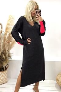 Sukienka IVET prosta w stylu casual maxi