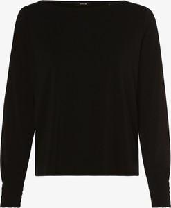 Czarny t-shirt Opus z długim rękawem
