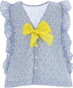 Niebieska bluzka dziecięca Il Gufo z bawełny