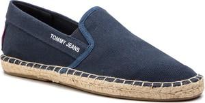 Buty letnie męskie Tommy Jeans z tkaniny w stylu retro