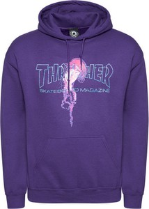 Fioletowa bluza Thrasher w młodzieżowym stylu