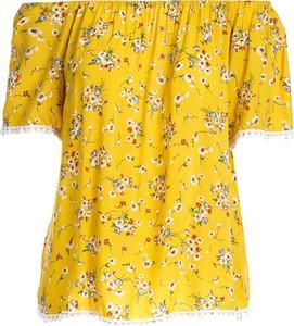Żółta bluzka Multu z krótkim rękawem