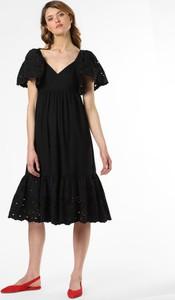 Sukienka Only midi z krótkim rękawem z dekoltem w kształcie litery v