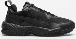 Czarne buty sportowe Puma z nubuku sznurowane
