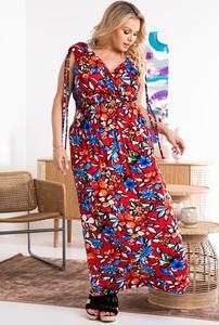 Sukienka KARKO maxi dla puszystych w stylu boho