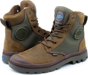 Brązowe buty zimowe Palladium sznurowane