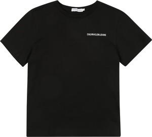 Czarna koszulka dziecięca Calvin Klein z tkaniny
