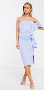 Niebieska sukienka True Violet midi