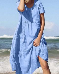 Niebieska sukienka Kendallme oversize maxi