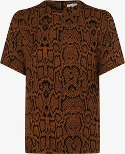 Brązowa bluzka Minimum z krótkim rękawem
