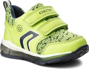Żółte buty sportowe dziecięce geox na rzepy