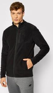 Czarna bluza 4F z polaru w sportowym stylu
