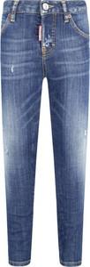 Jeansy dziecięce Dsquared2 z jeansu