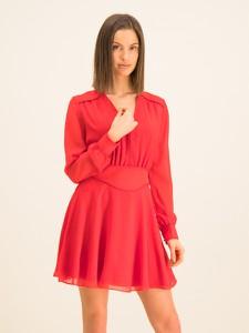 Czerwona sukienka Guess z dekoltem w kształcie litery v z długim rękawem mini