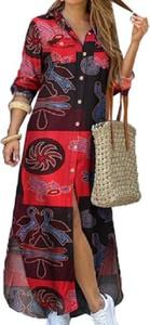 Sukienka Cikelly w stylu casual z długim rękawem z dekoltem w kształcie litery v