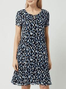 Sukienka Gerry Weber mini z szyfonu z krótkim rękawem