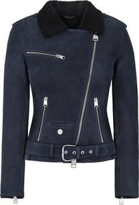 Granatowy płaszcz Ochnik w rockowym stylu