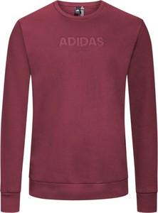 Czerwona bluza Adidas w street stylu z bawełny