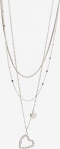 Reserved - Naszyjnik z zawieszkami w kształcie serca - Srebrny