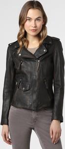 Czarna kurtka Caminari krótka w rockowym stylu