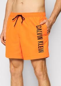 Pomarańczowe kąpielówki Calvin Klein