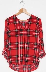 Czerwona bluzka House z długim rękawem