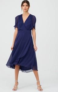 Granatowa sukienka V by Very midi