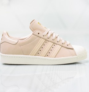 produkty wysokiej jakości piękno super promocje Beżowe buty damskie adidas superstar, kolekcja jesień 2019