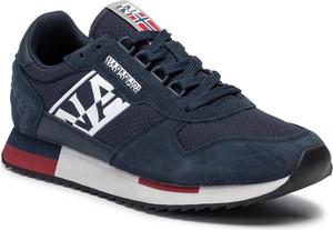 Granatowe buty sportowe Napapijri sznurowane