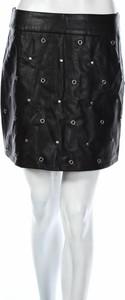 Czarna spódnica Brave Soul w stylu casual ze skóry mini