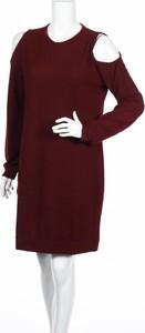 Czerwona sukienka Ivy Beau mini z długim rękawem