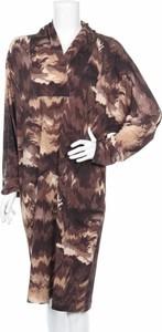 Sukienka Gerard Pasquier z dekoltem w kształcie litery v z długim rękawem