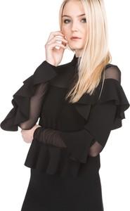 Czarna sukienka Pinko z golfem trapezowa