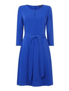 Niebieska sukienka Daniel Hechter z długim rękawem z okrągłym dekoltem mini