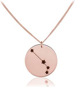 Lian Art Srebrny naszyjnik Konstelacje znak zodiaku z grawerem - rose gold