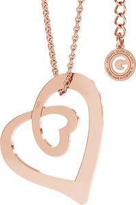 GIORRE SREBRNY NASZYJNIK SERCE CELEBRYTKA 925 GRAWER : Kolor pokrycia srebra - Pokrycie Różowym 18K Złotem