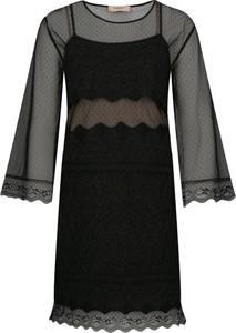 Sukienka Twinset z okrągłym dekoltem mini prosta