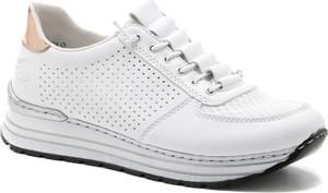 Buty sportowe Rieker z płaską podeszwą sznurowane
