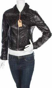 Czarna kurtka Tally Weijl ze skóry w stylu casual