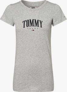 T-shirt Tommy Jeans z okrągłym dekoltem w młodzieżowym stylu