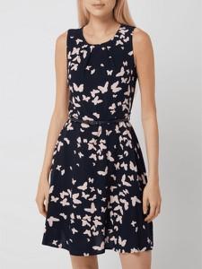 Granatowa sukienka Montego mini bez rękawów