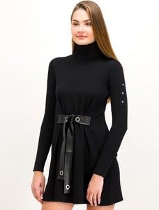 Czarna sukienka Patrizia Pepe w stylu casual z długim rękawem mini