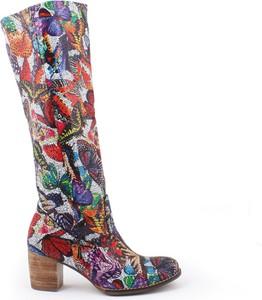 Zapato kozaki - skóra naturalna - model 154 - kolor motyl