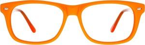 Pomarańczowe okulary damskie Moretti